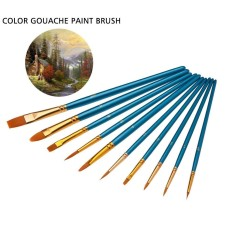 Niceeshop 10pcs Professional Paint Brushes Artist For Watercolor Oil Painting By Nicee Shop.