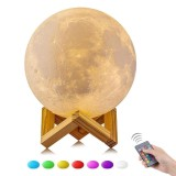 Niceeshop 16 Color 15Cm Changing Magical 3D Moon Lamp Dimmable Remote Control Usb Charging Moon Night Light Home Decorative Lights Baby Nursery Lamp Best Gifts Intl Lower Price