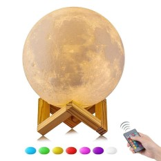 Price Niceeshop 16 Color 15Cm Changing Magical 3D Moon Lamp Dimmable Remote Control Usb Charging Moon Night Light Home Decorative Lights Baby Nursery Lamp Best Gifts Intl Niceeshop New