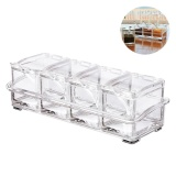 Price Niceeshop Clear Seasoning Box 4 Piece Separable Acrylic Spice Rack Salt Sugar Pepper Container Spice Jar Set Condiment Cruet With Cover And Spoon Intl China