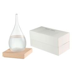 niceEshop Creative Portable Mini Desktop Droplet Storm Glass Crafts Weather Storm Forecast Predictor Bottle Barometer