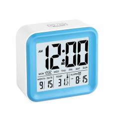 Discount Niceeshop Digital Alarm Clock With 3 Alarms And Night Light Time Date Day Of Week Temperature Display Clock Blue Niceeshop On China