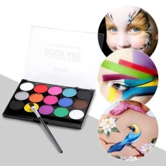 Niceeshop Face Paint Kit Professional 15 Flash Color Palette Washable Face Body Tattoo Paint For Halloween Party,cosmetic Grade Safe Non-Toxic - Intl By Nicee Shop.