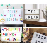 Sale Niceeshop Led Cinema Light Box Diy Decorative Lightbox Free Combination With 84 Letters And 126 Colorful Emoji Led Light With Usb Cable Intl Niceeshop Wholesaler
