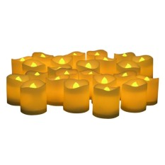 niceEshop LED Flameless Candles,Flickering Votive Candles,Flickering Battery Operated Candles,Set Of 24 - intl