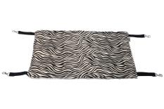 Niceeshop Plush Cat Cage Hammock Kitty Pet Hanging Comforter Bed, Zebra Stripe Pattern (export) By Nicee Shop