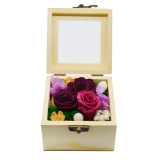 Price Comparisons For Niceshop Romantic Preserved Roses Flower Never Withered Real Rose Eternal Life Immortal Flowers In Upscale Wooden Box Gift For Home Decor Wedding Anniversary Valentine S Day Thanksgiving Mother S Day Birthday Red Rose