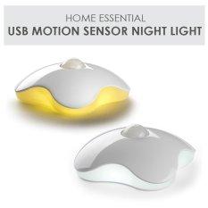 Shop For Night Light Four Leaf Clover Lamps Motion Sensor Nightlight Pir Intelligent Led Human Body Motion Induction Lamp Yellow