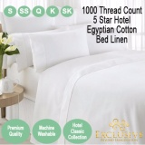 Discount Nile Valley 1000 Thread Count 5 Star Hotel Egyptian Cotton Fitted Sheet Premium Quality Nile Valley On Singapore