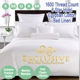 Nile Valley 1600Tc 6 Star Hotel Egyptian Cotton Fitted Set Snow White Exclusive Deal