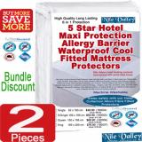 Nile Valley S 5 Star Hotel Maxi Protection Allergy Barrier Waterproof Cool Fitted Mattress Protectors 2 Pieces Sleep Safely Lower Price