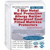 Price Comparison For Nile Valley S 5 Star Hotel Microfiber Fitted Mattress Protector 6 In 1 Protection Sleep Safely