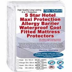 Buy Nile Valley S 5 Star Hotel Microfiber Fitted Mattress Protector 6 In 1 Protection Sleep Safely Cheap On Singapore