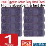 Promo Nile Valley S 5 Star Hotel Egyptian Cotton Fatty Hand Towel Premium Quality Blue