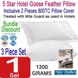 Price Nile Valley S 5 Star Hotel Goose Feather Pillow 1300G Inclusive 2 Egyptian Pillow Covers On Singapore