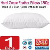 Purchase Nile Valley S 5 Star Hotel Goose Feather Pillow 1300G With Mite Guard For Good Night Sleep Online