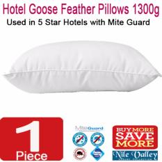 Lowest Price Nile Valley S 5 Star Hotel Goose Feather Pillow 1300G With Mite Guard For Good Night Sleep