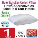 Nile Valley S Egyptian Cotton Down Alternative Pillow 1300G As Used In 5 Star Hotel Price Comparison