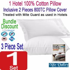 Sale Nile Valley S Hotel 100 Cotton Pillow 950G Inclusive 2 Egyptian Pillow Covers Nile Valley Branded