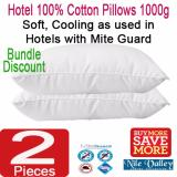 Compare Price Nile Valley S Hotel 100 Cotton Pillows With Mite Guard 1000 Grams On Singapore