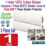 For Sale Nile Valley S Hotel Collection 100 Cotton Bolster Bolster Covers Free Protector Bundle Discount