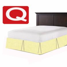 Nile Valley S Hotel Collection 600Tc Bed Skirting Crisp Box Pleat Design Beige For Sale Online