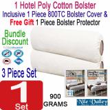 Nile Valley S Hotel Collection Poly Cotton Bolster 1 Bolster Cover 1 Free Protector Discount Code