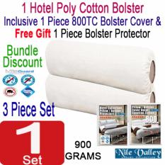 Sale Nile Valley S Hotel Collection Poly Cotton Bolster 1 Bolster Cover 1 Free Protector Nile Valley Cheap