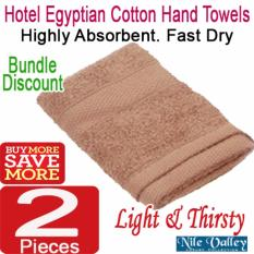 New Nile Valley S Hotel Egyptian Cotton Hand Towel 110G Highly Absorbent Fast Dry