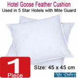 Compare Nile Valley S Hotel Goose Feather Square Cushion 45X45Cm With Mite Guard
