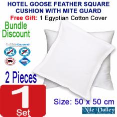 Sale Nile Valley Hotel Goose Feather Cushion 50X50Cm With Free Egyptian Cover Singapore Cheap