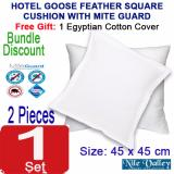 Buy Nile Valley Hotel Goose Feather Cushion 45X45Cm With Free Egyptian Cover On Singapore