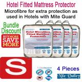 Review Nile Valley S Hotel Microfiber Fitted Mattress Protector 4 Pieces Sleep Safely Nile Valley On Singapore