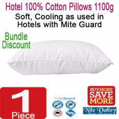 Nile Valley S Hotel100 Cotton Pillows With Mite Guard 1100 Grams In Stock