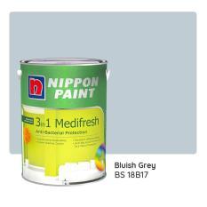 Nippon Paint 3-in-1 Medifresh BS 18B17 (Bluish Grey) 1L