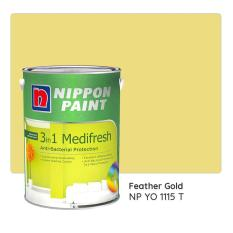 Nippon Paint 3-in-1 Medifresh NP YO 1115 T (Feather Gold) 1L