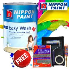 How To Buy Nippon Paint Easy Wash With Teflon 5L Yellow Rose