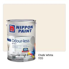 Nippon Paint Odour-less All-in-1 1135 (Chalk White) 1L