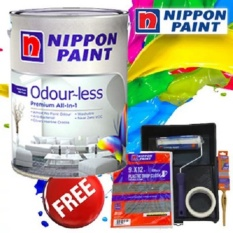 Review Nippon Paint Odour Less All In 1 5L Cotton White Nippon Paint