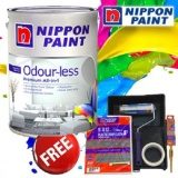 Best Price Nippon Paint Odour Less All In 1 5L Raindrop