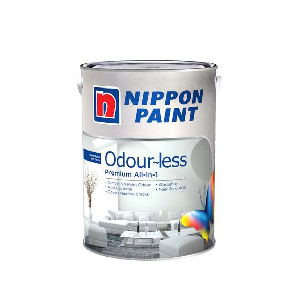 Nippon Paint Odour-less All-in-1 - Base 1 - Chill 1118 - 5L