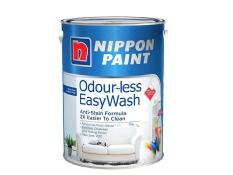 Nippon Paint Odour-Less Easywash Base 1 Snow Flakes 1164 5L