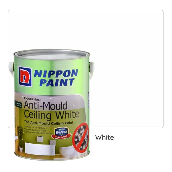 Nippon Paint Odourless-Anti-Mould-Ceiling (White) 5L