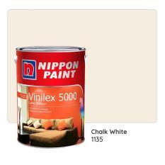 Nippon Paint Vinilex 5000 1135 (Chalk White) 1L