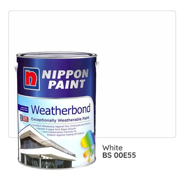 Nippon Paint Weatherbond BS 00E55 (White) 1L