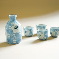 Nishida wood rain Japanese a pot four cup