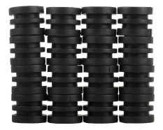 noion Anticollision 5/8 Inch Foosball Rods Rubber Bumpers for Foosball Table (Black) - intl