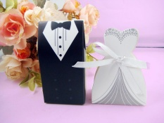 Buy Nonof 150Pcs Bride And Groom Wedding Candy Favour Formal Dress Tuxedodress Candy Gift Boxes Intl Louis Will