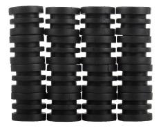noonbof Anticollision 5/8 Inch Foosball Rods Rubber Bumpers for Foosball Table (Black) - intl