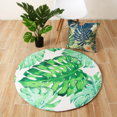 Best Rated Green Leaves Fresh Bedroom Bedside Chair Mats Round Carpet